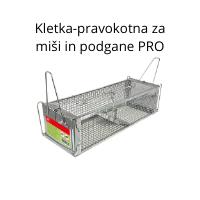 Kletka-pravokotna za miši in podgane PRO