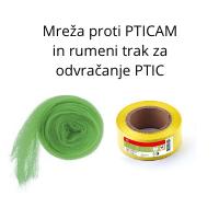 Mreža proti PTICAM in rumeni trak za odvračanje PTIC